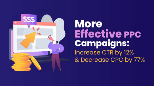 More Effective PPC Campaigns: How We Increased CTR by 12% and Decreased CPC by 77%